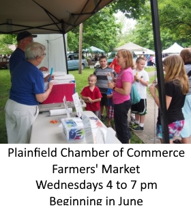 Farmers' Market Wednesdays 4 to 7pm - begins in June